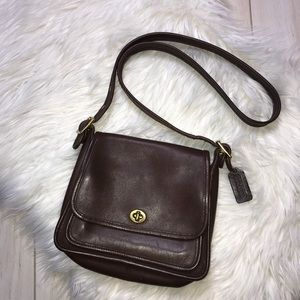 Coach Legacy Turnlock Brown Leather Handbag
